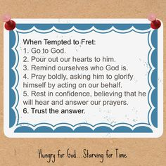 """When I'm tempted to fret, these are good reminders. To read """"I's Wicked,"""" double click on the image."""