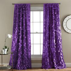 Lush Decor Gala Window Single Curtain Panel & Reviews | Wayfair