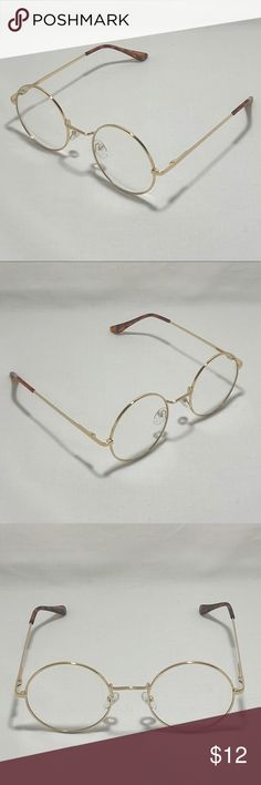8af0f183f0 Small Gold Clear Lens Circle Glasses ☑ 1 Pair of Circle Clear Lens Glasses ▫