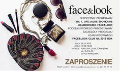 projekt zaproszenia na spotkanie czytelniczek magazynu i portalu www.faceandlook.pl