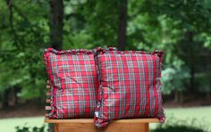 Pair of Vintage Tartan Plaid Christmas Pillows - found these last night, waited till today to purchase.  Gone before I arrived.  ;-(