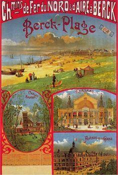 Vintage Railway Travel Poster - Berck-Plage - France.