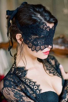 8a03af8cf Rayna Alencon Lace Blindfold Venetian Boudoir Eye Mask in Ivory or Black