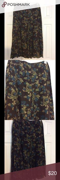 Flowered flair skirt Flair flowered skirt midi length Jones New York signature Skirts Midi