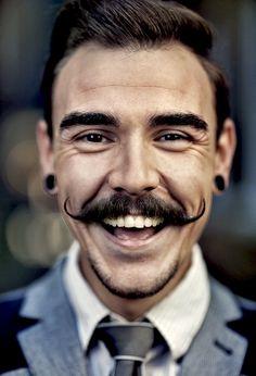 :) * mustache