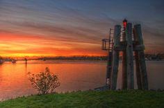 Fernweh - Sonnenuntergang an der Elbe, Hamburger Hafen, Finkenwerder | MARCO POLO User northsight