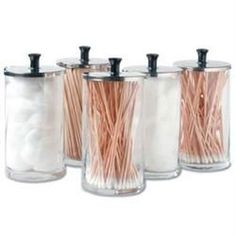 Glass Dispenser Jars Set Of 6 25Oz Each - Storage & Carts - Massage Supplies | Massage Warehouse