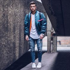 "7,174 Likes, 92 Comments - Ali Gordon (@aligordon89) on Instagram: ""Taking inspiration from the streets. Alpha Industries MA1 Bomber from @revolveman Click the link in…"""