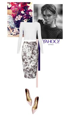 """winter florals"" by kimi99 ❤ liked on Polyvore featuring Jane Norman, Topshop, Ted Baker, PolyvoreNYFW and yahoostyle"