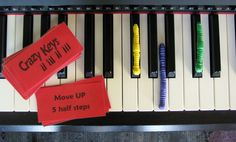 Crazy Keys - A Whole and Half Step Game. For my piano students, perhaps?