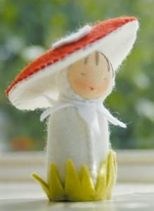 toadstool felt doll kit-- purl soho   products   item   felt doll kits (de witte engel)
