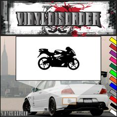 Motorcycle Wall Decal - Vinyl Decal - Car Decal - CD47