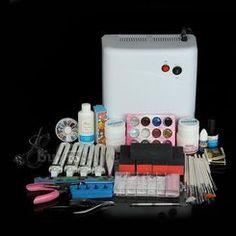 UV Gel Nail kit with 36w lamp at missliplash.net Nail Kits, Gel Nail Kit, Uv Gel Nails, Nail Tech, Lamps, Lightbulbs, Light Fixtures, Rope Lighting, Lanterns