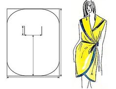 DIY Women's Clothing :    Easy peasy wrap dress – might want to sew some snaps or hooks and eyes in there somewhere… especially if you have my luck…    -Read More –