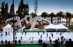 E is for Embarcadero Ice Skating. A mid-winter's treat in a lovely venue day or night!  #sfballetnutcracker