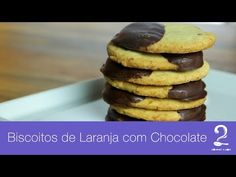 Receita de Biscoito de Laranja com Chocolate - Gourmet a dois - YouTube