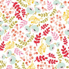 Up north scandinavian floral fabric by thislittlestreet on Spoonflower - custom fabric