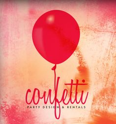 Confetti Party Store Logo Design