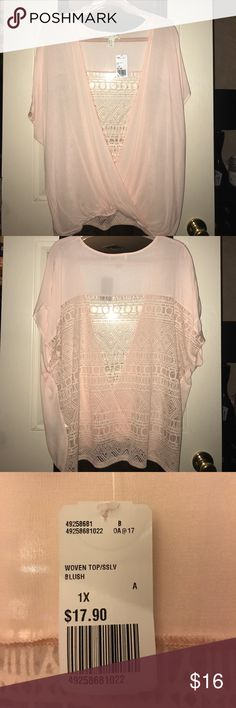 Women's Plus Size Clothing NWT Blush Color Blouse Size 1X Forever 21 Tops Blouses