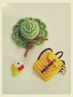 ☀ Mini crochet hat & backpack
