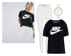 """Nike T-shirt"" by jasmine077 ❤ liked on Polyvore featuring NIKE and River Island"