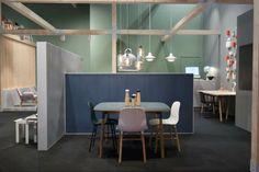 Normann Copenhagen på møbelmessen Salone Del Mobile i Milano. Linoleum brugt på gulve og som overflade på skillevægge. #ForboFlooring #Forbo #linoleum #SaloneDelMobile