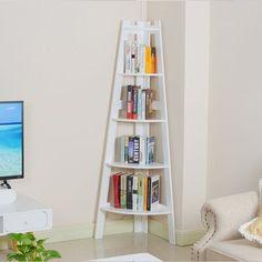 Metal Bookcase, Etagere Bookcase, Bookcase Storage, Storage Room, Corner Ladder Shelf, Corner Bookshelves, Toddler Playroom, Home Organization, Organizing