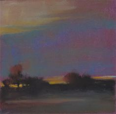 Field at Dusk by Loriann Signori from Artists in Pastel