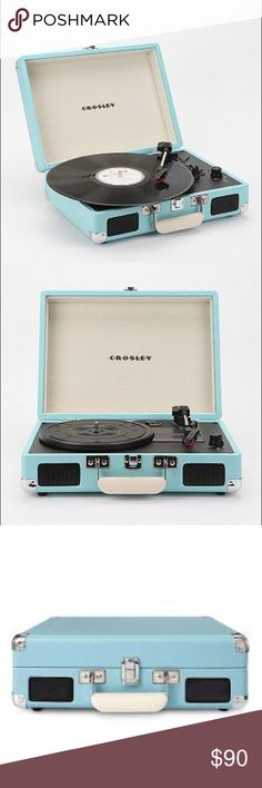 Blue Crosley Record Player Used only a handful of times, no dents or stretched, works perfectly! Urban Outfitters Tops