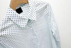 $22 dab polkadot shirt/cotton/made in Japan/free size