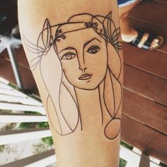 Picasso Line Drawings Picasso line drawing tattoo
