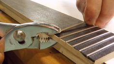 Making the fretboard. oh the cheap