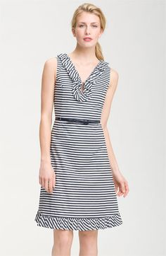kate spade new york 'henley' ruffle striped dress