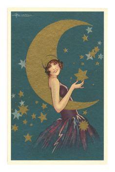 Art Deco Vamp with the Moon