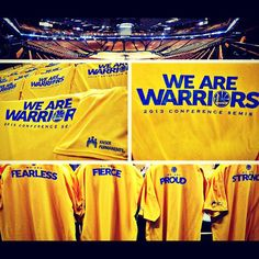 Have no fear, #DubNation. Your gold shirts are waiting for you. #WarriorsGround is ready. Are you?