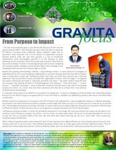 We are proud to share with you the GRAVITA Focus – Volume 19 . The same has also been displayed on our website www.gravitaindia.com