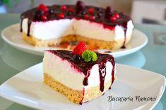 Prajitura la rece cu iaurt si fructe de padure este un desert racoritor si aromat, potrivit pentru zilele calduroase in care va doriti un desert rapid.