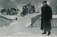David Blackwood etching, Captain Ned Bishop Home in Wesleyville, X inches. Local Artists, Great Artists, Online Gallery, Art Gallery, East Coast Canada, Canada Images, Like Image, Newfoundland And Labrador, Canadian Artists