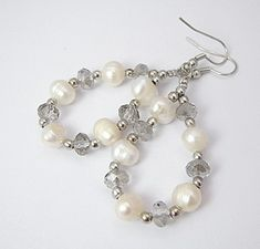Fashion Pearl Earrings, with Glass Beads.  But I would choose beads that are more colorful.