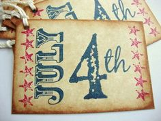 July 4th Tags Independence Day Rustic by PapergirlStudios on Etsy
