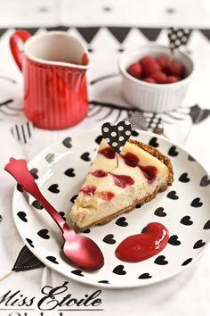 Receta cheesecake de chocolate blanco y frambuesa para San Valentín 2