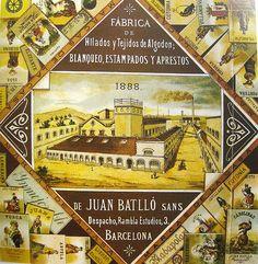 Batlló sobrinos-etiqueta 008 resize - Can Batlló (la Bordeta) - Viquipèdia, l'enciclopèdia lliure Barcelona, Sign, Blog, Legends, Motorbikes, Historia, Barcelona Spain, Signs, Blogging
