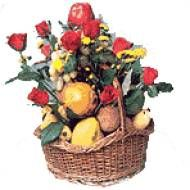 Shopping online seasonal fruits with red roses for chennai delivery. Fresh flowers and others gifts delivery to Chennai.