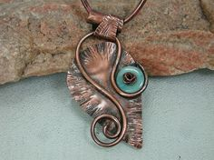 Metalsmith Original Design Textured Leaf by SilverSeahorseDesign, $67.00