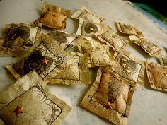 "Tea Bag ""pillow"" tutorial by Monica Zuniga.  (So many wonderful possibilities!)"