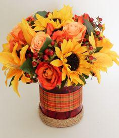 Fall Silk Tabletop Centerpiece (Autumn Zest)