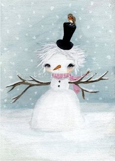 Snowgirl Original Painting