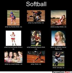 Softball... - What people think I do, what I really do - Perception Vs Fact