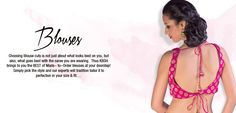 A benarasi woven fuchsia pink georgette  saree blouse patterns accentuated with tassel hangings. Concealed in-built cups Deep knotted back with 2-way closure Recommended for all body types. For more detail visit http://www.kbshonline.com/