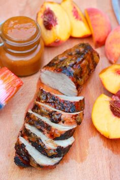 Grilled Pork Tenderloin with Peach BBQ Sauce | The sweetness from the peach and tanginess of the barbecue complement the pork perfectly. Complete the meal with a bowl of Minute White Rice.